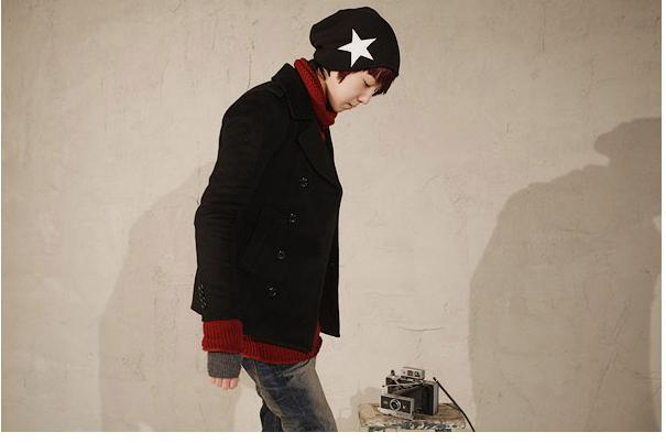 STAR Pattern Pure Color Street Fashion Beanies