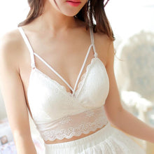 Women Crochet Tank Camisole Lace Vest Bra Crop Top