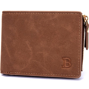 BABORRY Brand Men Purse PU Leather Male Wallets Card Coin Walle
