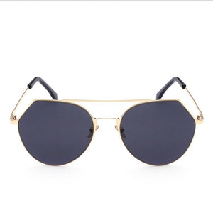 Novel Shape Cut Mirrored Glasses Fashion Accessories for Women