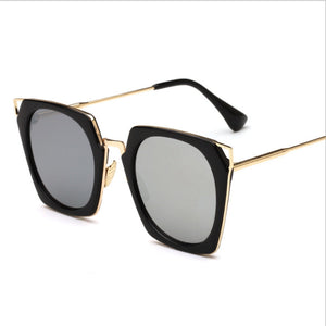 Rectangular Cut Fashion Women's Sunglasses with Multiple Color Choices