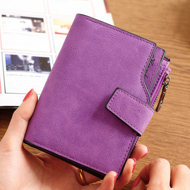 Lady wallet short paragraph candy color button ladies zipper clutch bag