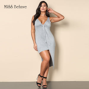 Thick Straps A Line Unbalancing Hems Dress