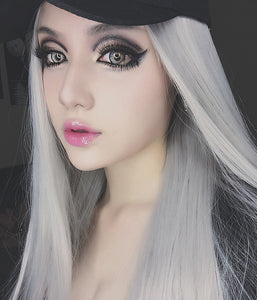 Fashion Grey Long Straight Wigs