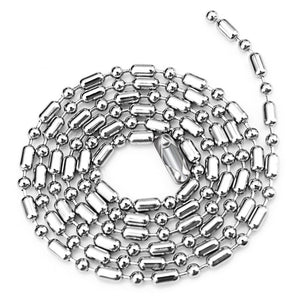 Accessories Titanium Steel Round Beads Men And Women Models Pure Stainless Steel With Chain 2.4mm Bamboo Chain Necklace