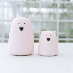 Polar Bear Silicone LED Night Light Chargeable Battery Touch Sensor light 2 Modes Children Baby Kids Night Lamp Bedroom Ligh