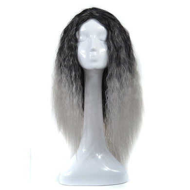 Big Wave Lady Headdress Color Gradient Corn Long Curly Hair Cosplay Wig Hood