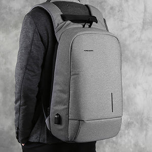 Mens Backpack The College Student's Backpack USB Computer Business Backpack