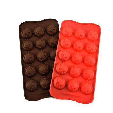 Silicone Kitchen Supplies Silicone Smile Ice Lattice Chocolate Mold Baking Small Tools Cake Mold