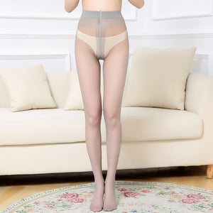 Sexy lady without crotch high elastic backing stockings