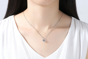 1PC Four-claw Zircon Necklace Small Rabbit Pendant Fashion Four Claw Eight Heart Eight Arrows Pendant