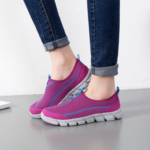 Running Shoes Hollow Out Breathable Sneakers Slip On Sport Shoes Woman