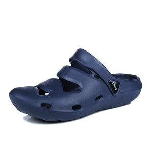 Men Hole shoes Casual flats Sandals Men Summer Beach Slippers (1 pair)