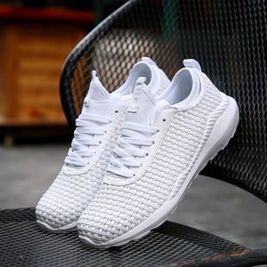 Braided Shoes Mesh Sneakers Skid Resistant Training Shoes for Men (1 pair)