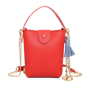 Tassel Shoulder Diagonal Package Female Mini Chain Bag Change Small Square Package