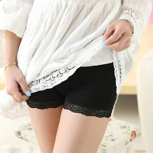 Women Lace Breathe Safety Pants Boyshort Panties Low Waist