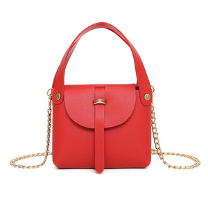 Solid Color Small Square Package Fashion Chain Mini shoulder Diagonal Package Female Purse