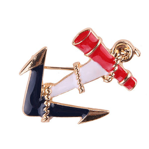 Anchor Design Fashion Sea Theme Brooches