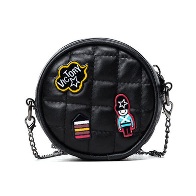 Mini Purse Street Fashion Shoulder Bag Purse Embroidery Package Badge Chain Female