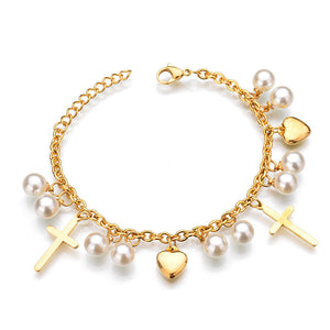 Bohemian Star Charm Beads Bracelets For Women Ethnic Boho Tassel Multilayer Simulated Pearl Bracelet Wristband Jewelry