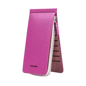 Female Card Wallet with Zipper