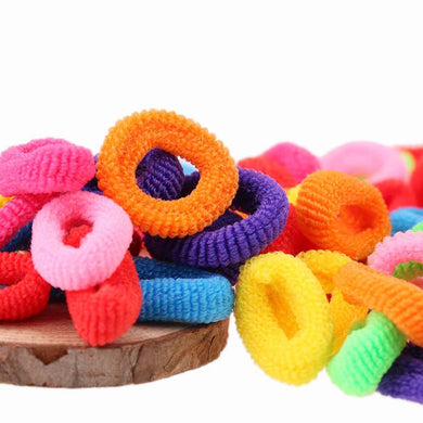 200pcs Colorful Seamless Mini Size Hair Tie