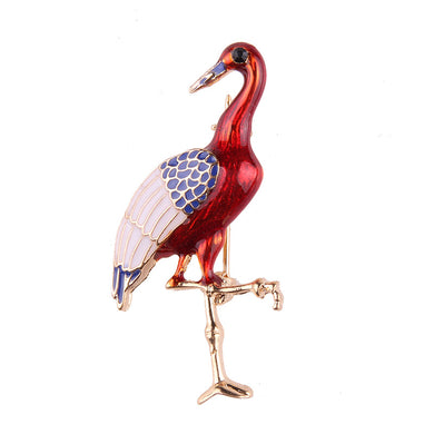 Bird Design Red Brooches