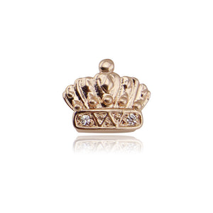 Hiphop Gold Single Teeth Grillz Rhinestone Crown Removable One Top Fang Tooth Caps Grillz Dental Halloween Gifts