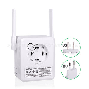 Wifi Signal Amplifier New Dual Antenna Wireless Network Repeater 300M Signal Strong With Usb