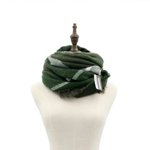 Army Green Elegant Stain Resistant Fashion Scarves Warm Keeping Wrap Shawl