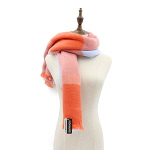Euro Style Orange Scarves Warm Keeping Wrap Shawl