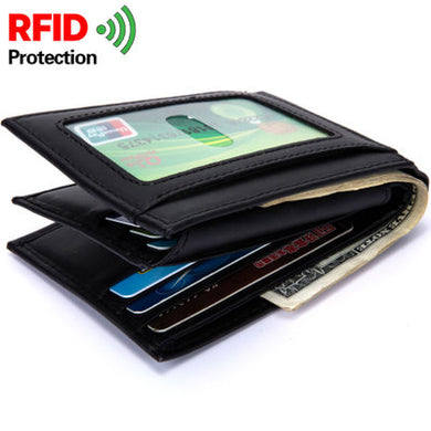 BABORRY Brand Genuine Leather Men Wallet Fashion Coin Pocket Men Genuine Leather Short Wallet