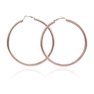 Fashion 90mm Gold Tone Large Statement Earring For Women Shiny Big Round Circle Hoop Earrings Brincos Party Jewelry