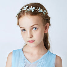 Handmade Girls Summer Headband Crystal Flower Wreath Kids Princess Fairy Floral Hairband Headdress for Wedding Dresses Hairwear