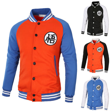 Bicolor Men's Dragon Ball Goku New Raglan sleeves sweater baseball Jacket