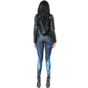 Zombie Pattern Long Stretchy Leggings Novel Halloween Festive Leggings