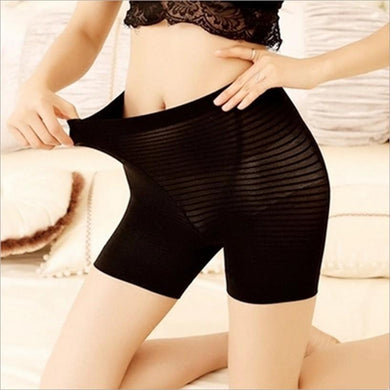 Women Basic Cotton Floral High Elastic Safety Pants Boyshort Panties
