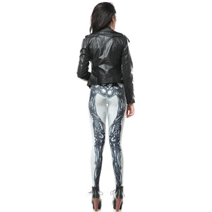 Skeleton Pattern Festive Halloween Leggings