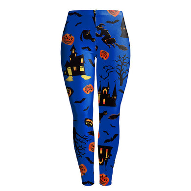 Halloween Pattern Stretchy Training Leggings