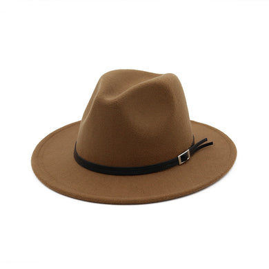 Fashion British Style Fedora Hat Solid Color Classic Styles