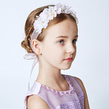 Light Purple Headband Hair Accessories for Flower Girls Wedding Hairband Ornaments Princess Teens Pageant Performance Gifts
