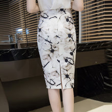 Flowers Printed Pencil Skirts Elegant Autumn Fashion