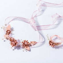 Handmade Rhinestone Flower Headband Princess Girls Headpiece Hair Ornaments Wedding Party Prom Headdress Hairwear for Children
