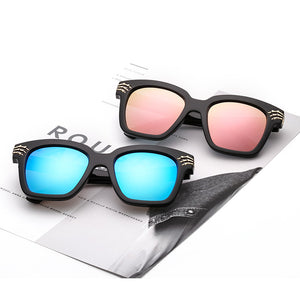 Sqaure Type Mirrored Lenses Claw Detail Frames Sunglasses