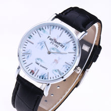 Fish Watermark Round Plate Analog Quartz Watch for Men