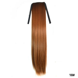 Women Synthetic Long Straight 1 Clip Hair Extentions