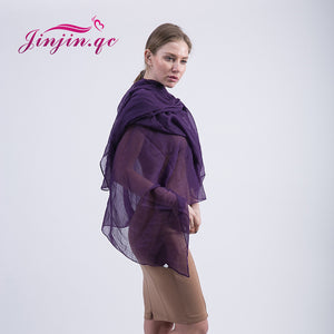 Voile Long Scarves Solid Color Light Weighted Scarves for Women