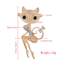 Sexy Kitty Design Rhinestone Women Brooches and Pins