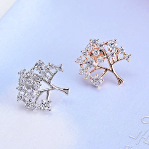 Wish Tree Shape Gold Plated Sweater Clips (1 pcs)