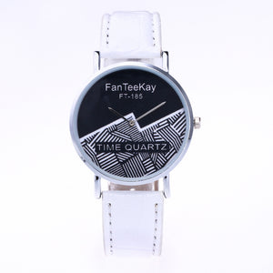 Lightning Pattern Round Plate Analog Quartz Watch for Men